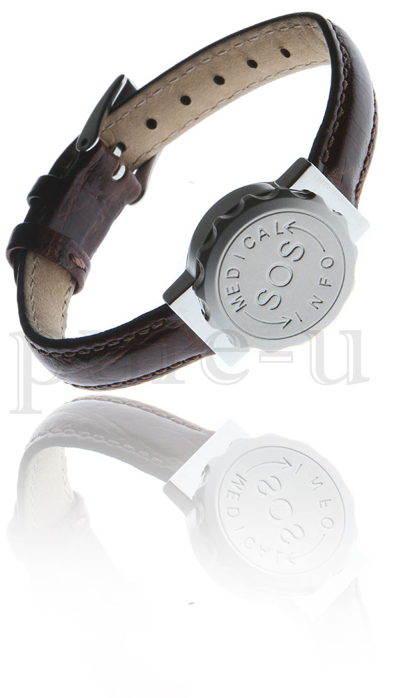 SOS BRACELET LEATHER
