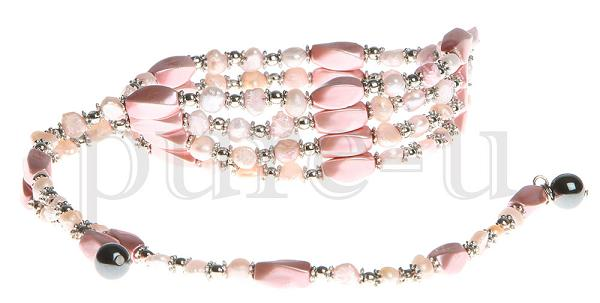 "36"" Baby Pink Beaded"