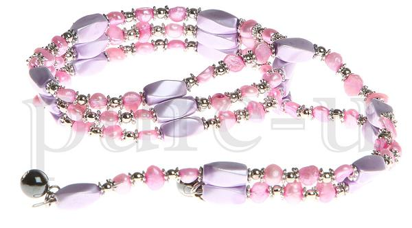 "36"" Purple Pink Beaded"