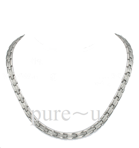 Track Style Necklace Silver