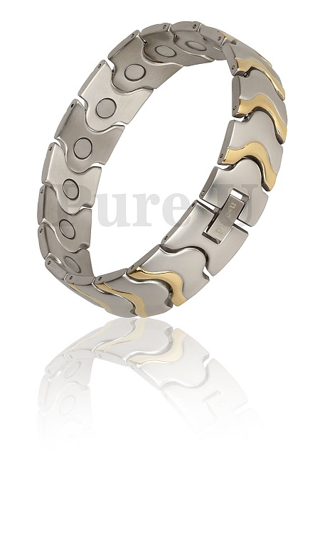 Gents-Gold-Wide-Wave-Double-Magnetic-