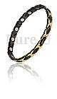 Magnetic-Bracelet-Black-Gold-Kiss