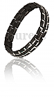 Golf Styled Black Silver Ltd Edition magnetic bracelet