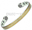 Magnetic Bangle gold & Silver