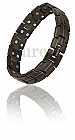 Gents-Double-magnet-black-bracelet