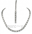 Track Necklace Set Silver